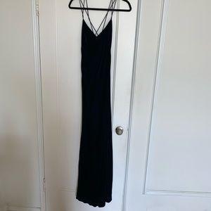 Ralph Lauren Velvet Gown - Deep Blue Size 6 NWT